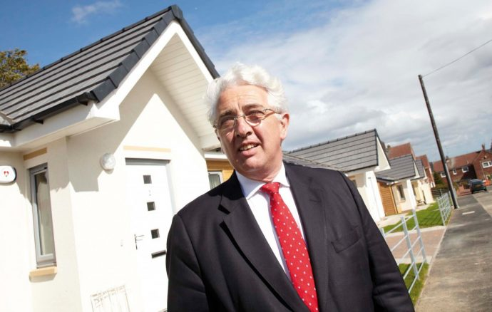 Robert Napier, Chair of the Homes and Communities Agency (HCA), visited Kibblesworth (see photo above) to view progress and meet residents in their new homes.