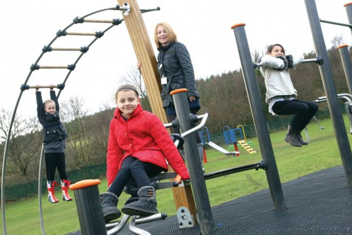 Children living in Kibblesworth can now make the most of newly installed play apparatus, designed to test their agility and endurance.